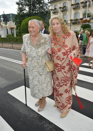 2 copines: Fernanda Casiraghi et Marta Marzotto.                        A g. Clin d'oeil de la Princesse Mette Marit