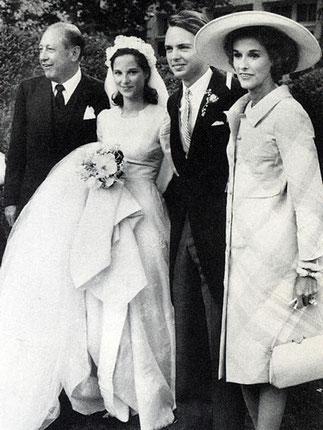 13 Juin 1964. Mariage Amanda MORTIMER et Carter BURDEN Jr.