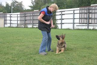 Romana mit Jakob vom Wolfsgraben beim Training