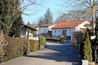 Ruhige Wohnstrasse, nahe Weil am Rhein, Kandern und Lörrach
