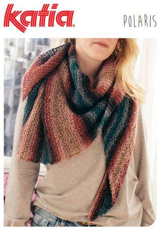 Gratis patroon gebreide sjaal in Polaris