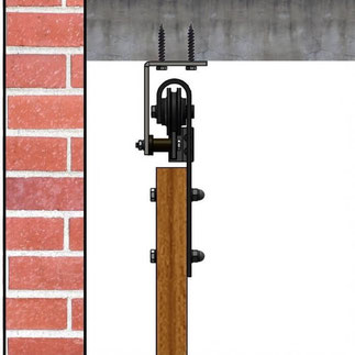 schuifdeur aan plafond monteren