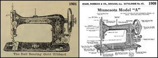 Gold Hibbard (1901)  and  Minnesota Model A  (1908)