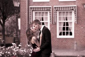 pocalunek pary zamek