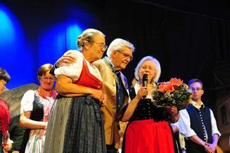 Ilse Faltermeier, Karl B. Kögl und Margot Wolf: Große Freude über den tollen Erfolg