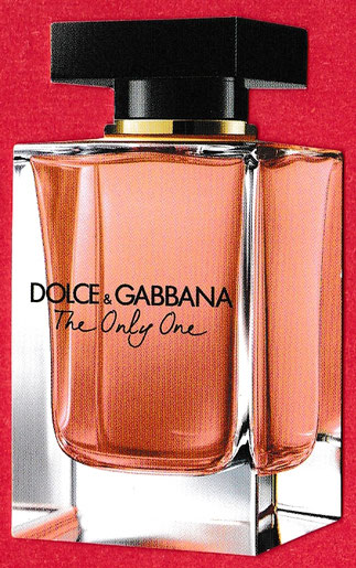 2018 - DOLCE & GABBANA : THE ONLY ONE - CARTE REPLIQUE AVEC PATCH NOIR AU VERSO