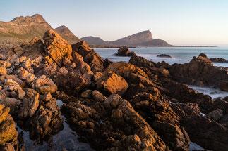 Fertilia coast during sunrise