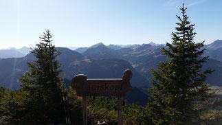 Ausblick vom Gamskopf (100 km, 50 Gipfel)