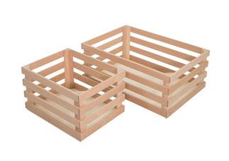 Caisses en bois de hêtre naturelles 705 et 706, FMU GmbH, article en bois