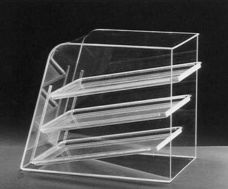 Kit de plateaux  8, FMU GmbH, Présentoir transparent