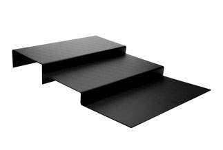 Escalier de présentation 9903069, FMU GmbH, plateaux de présentation noirs