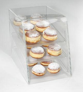 Présentoir à Donut, 3 étages 9402001, FMU GmbH, Présentoir transparent