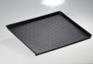 Plateau de présentation 9903033 et 9903077, FMU GmbH, plateaux de présentation noirs