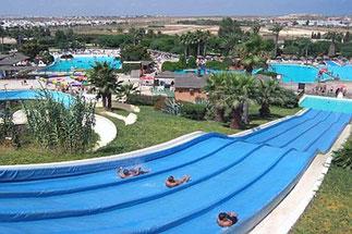 Der bekannte Wasserpark in Salou