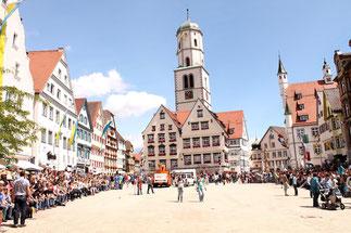 Der Marktplatz von Biberbach an der Riss