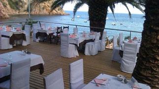 Das Restaurant in der Bucht. Wow!