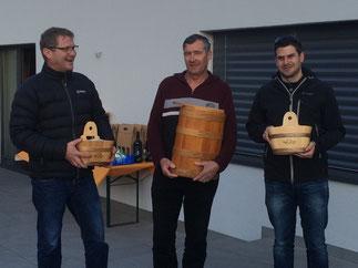 Kategorie B: 3. Rang, Venetz Martin vertreten durch Salzgeber Egon; 1. Rang, Amherd Leander; 2. Rang, Gattlen Simon