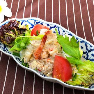タイレストランSala 海老と春雨のスパイシーサラダ