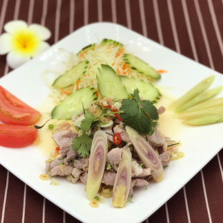 タイレストランSala Sala風豚肉のレモングラスあえ