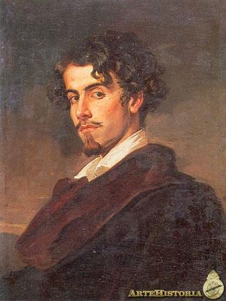 Gustavo Adolfo Bécquer pintado por su hermano Valeriano hacia 1862