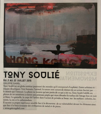 Exposition Tony Soulié- Galerie Gabel-Biot french riviera art gallery