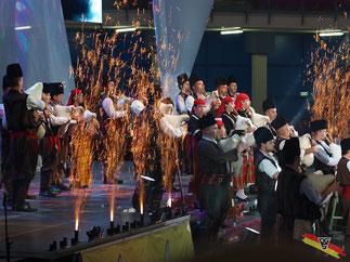 Show-Act bei der Eröffnungsfeier