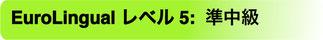 EuroLingual レベル 5 準中級(プレ・インターメディエイト)