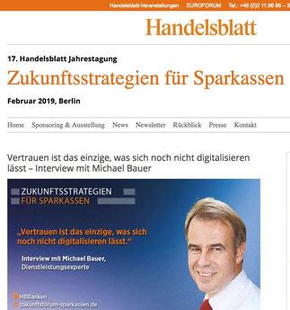 Michael Bauer Hoteltester, Service Experte, Redner, Referent & Top-Speaker bei www.handelsblatt.com