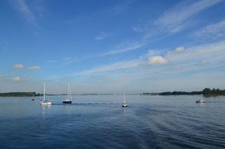 Segelboote auf dem Veerse Meer