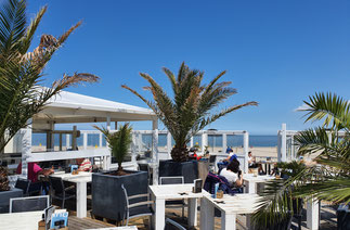 Sonnenterrasse vom Strandpavillon De Banjaard