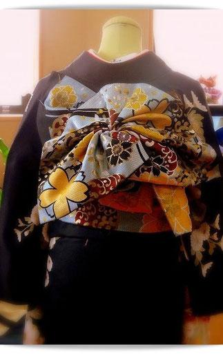 森田空美流着付け教室の帯結び「天津風」