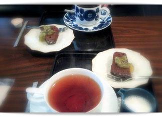 別府鉄輪温泉のカフェ。お茶もケーキも美味。