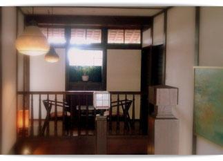 別府鉄輪温泉のカフェ。クラシックな趣が素敵でした。
