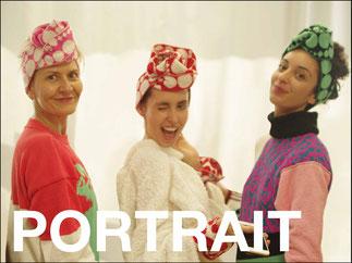 portraits d'élèves, témoignages, école de stylisme, maille, tricot, bobines de fils, couleurs, pompon