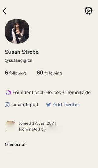 Clubhouse App Profil Seite