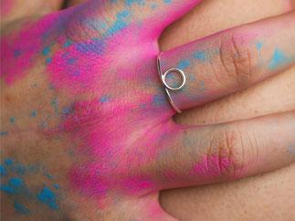 KREIS Ring aus edlem Sterling Silber Draht