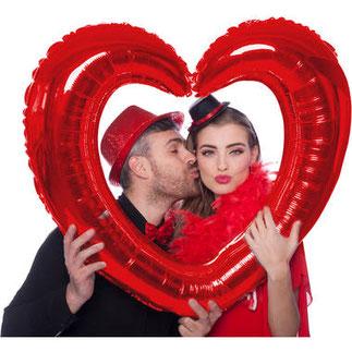 Folieballon fotolijst hart € 5,99