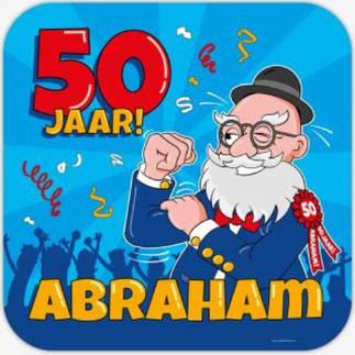 Deurbord 50 50x50 cm € 4,99 Abraham Cartoon
