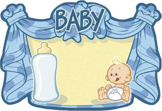 Huldeschild Baby blauw € 2,00