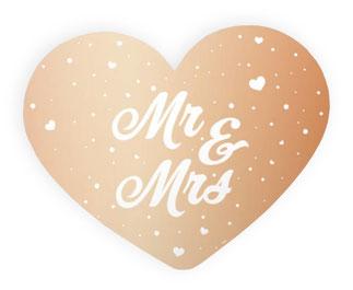 Deurbord € 4,99 Mr&Mrs roségoud 56x46 cm
