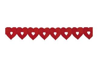 Slinger hartjes rood 6 m € 2,95