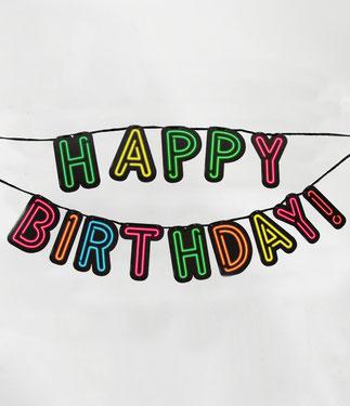 Letterslinger Neon Happy Birthday 5m € 5,99