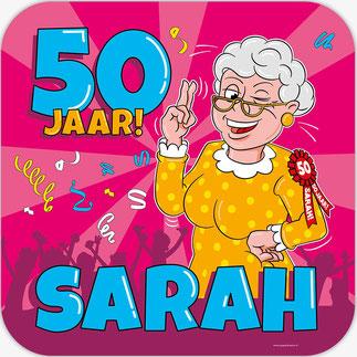 Deurbord 50 50x50 cm € 4,99 Sarah Cartoon