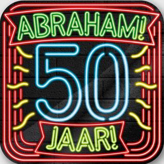 Neon Huldeschild € 4,99 Abraham 50x50 cm