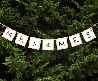 Letterslinger Mrs&Mrs 90cm € 2,99