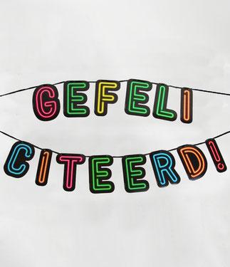 Letterslinger Neon Gefeliciteerd! 5m € 5,99