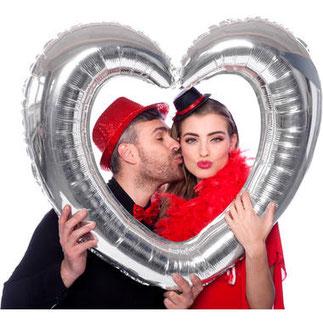 Folieballon Hartvormige Fotolijst Zilver € 5,99