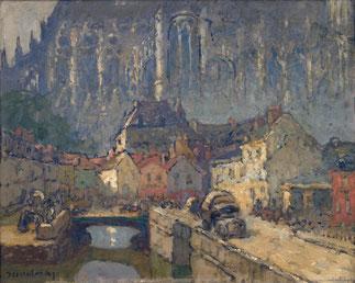 Huile de L.M. Desire-Lucas (1869-1949)
