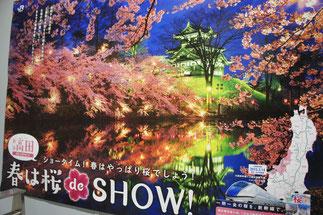 高田公園の夜桜もきっちりPR!
