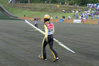 ゼッケン「224」番は葛西紀明選手